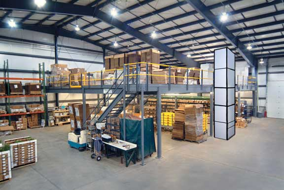 Mezzanine Design Requirements : Mezzanines designed and installed to fit your requirements