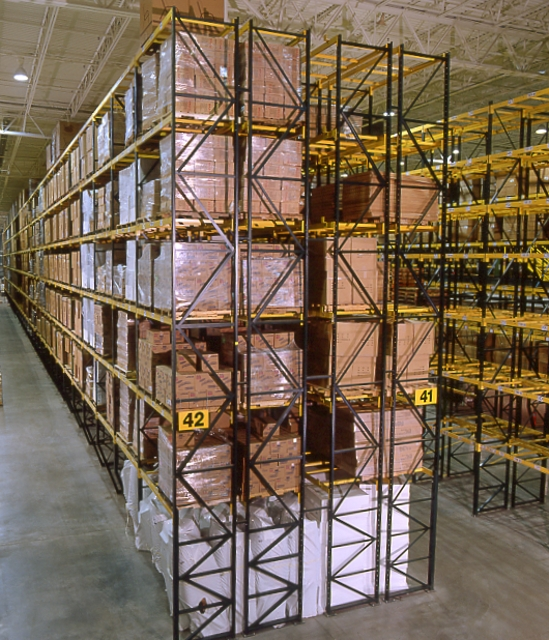 Double Stacked Selective Pallet Rack